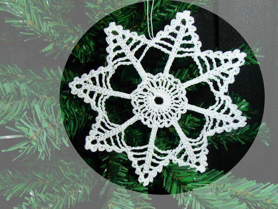 Crochet Snowflake Ornaments Christmas | Crochet Snowflake Christmas Ornament by…