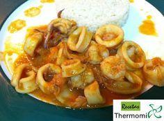 Receta calamares en salsa americana Thermomix