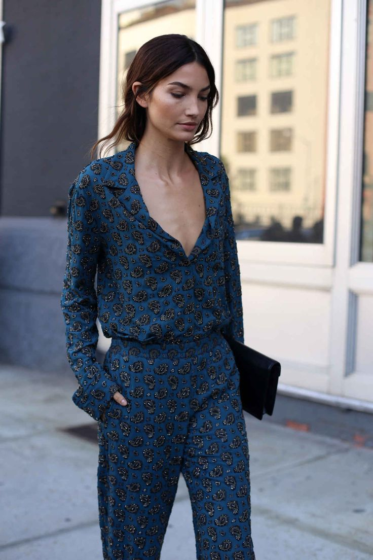 This is J | pjs all day | thisisj.com | Lily Alridge | Trend Alert: Silk Pyjama Tops