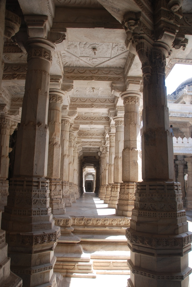 Ranakpur Jain Temple, on the road to Ranai, India. Famed for it's many, intricate pillars, not one of the same.