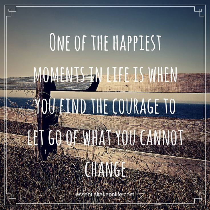 One of the happiest moments in life is when you find the courage to let go of what you cannot change.  #essentialtakeonlife #quote #letgo #findhappiness #happy #happiness #letgoofthepast #motivation