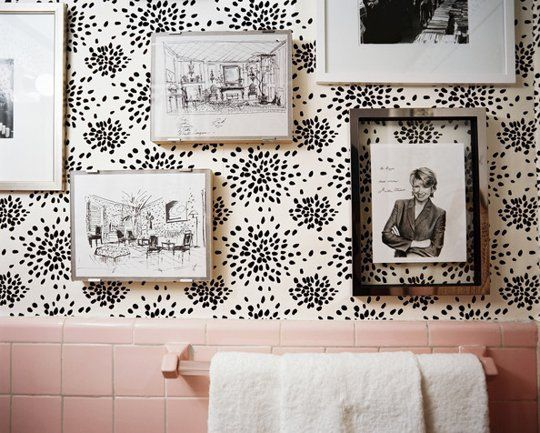 pink tile- decorating ideas
