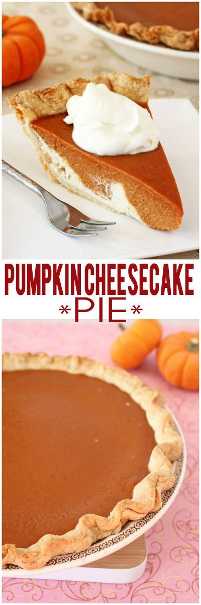 You'll never look at pumpkin pie the same way again! Old-fashioned pumpkin pie and cheesecake layered atop a flaky crust.