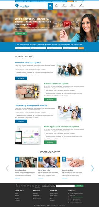Website for modern high-tech vocational college by Delegate2Win.org