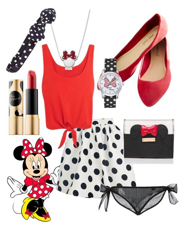 """""""Minnie Mouse"""" by pearlumberger on Polyvore featuring Splendid, Disney, Kate Spade, Le Petit Trou, Sephora Collection, Accessorize, Wet Seal, disney, disneybound and minniemouse"""
