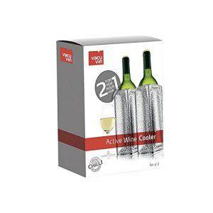 VACUVIN – VACUVIN Rafraîchisseur à vin argenté – Set de 2 – VACUVIN – FDS-015257