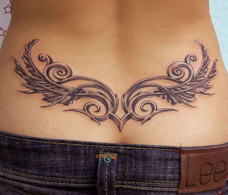Lower back sexy tattoo tribal