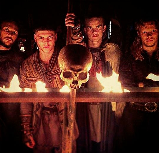 Vikings History Ragnar Lothbrok's legendary sons: Ubbe, Ivar the boneless, Hvitserk and Sigurd Snake-in-the-Eye. :