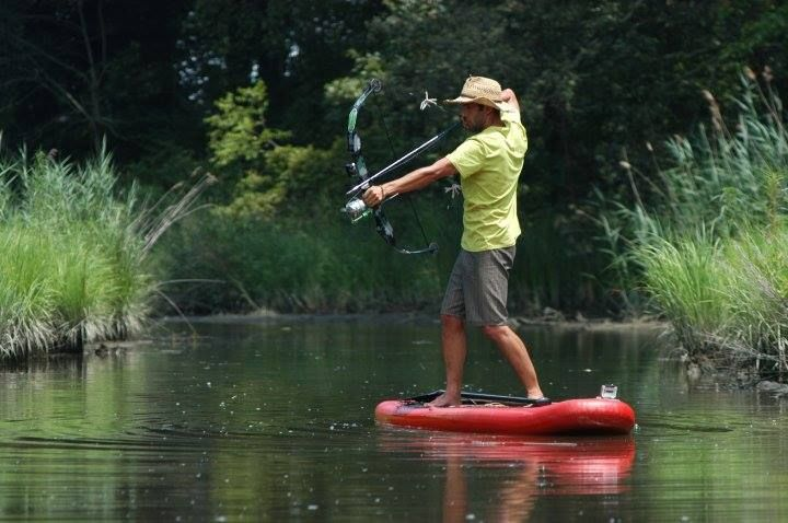 SUP bow fishing