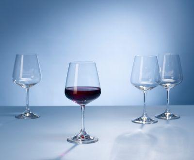 Villeroy & Boch Ovid, set rode wijnglazen