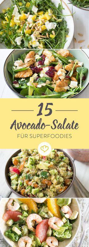 Du liebst Avocado und hast so richtig Lust auf Salat? Die Lösung: Acocado-Salat. Hier gibt's 15 schnelle Varianten für echte Avocado-Fans.