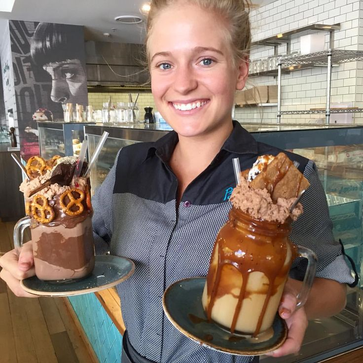 Bring those Freaks on Gracie, our Dynamo city store manager @Patissez#Canberra#foodporn#milkshakes#travel#cafe#cake#bake#