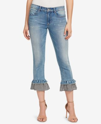 7a10a11cf Vintage America Ruffled Kick-Flare Jeans | macys.com | clothes in ...