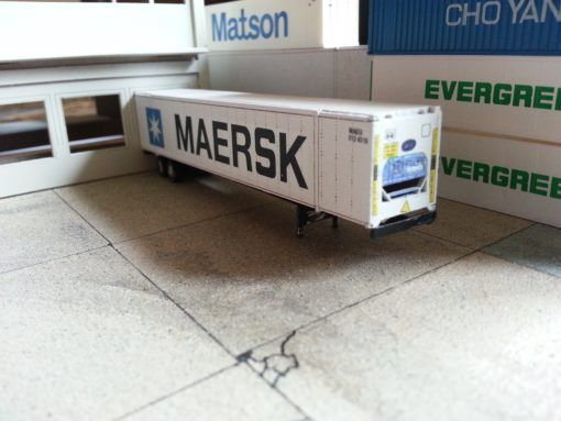 N scale 53′ Carrier Reefer Container by nscalelaser.com