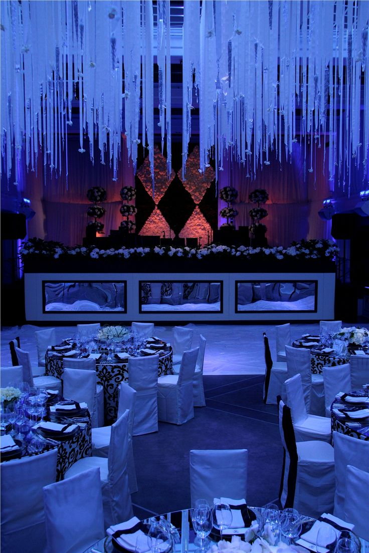 Crystal Ceiling Treatments - Revelry Event Designers