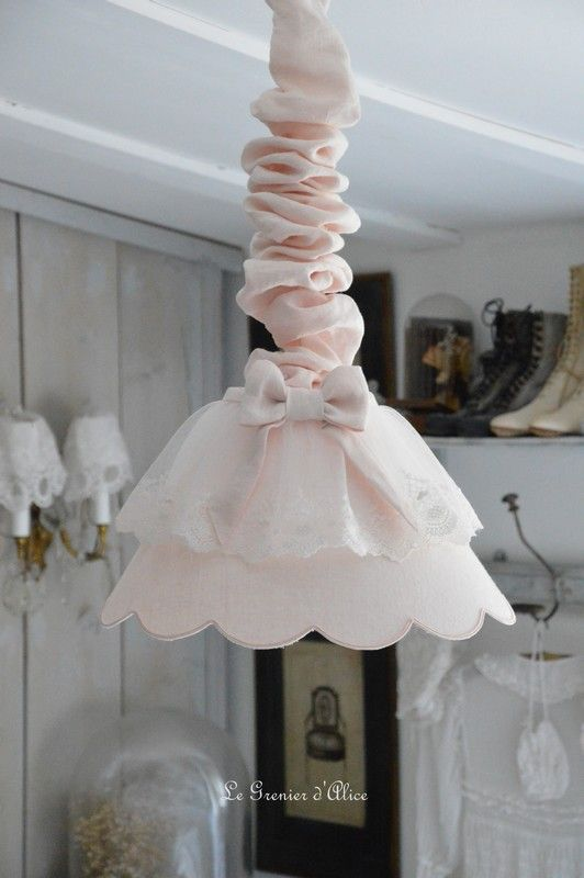 62 best Abat jour & pieds de lampe, lampshade shabby chic images on ...