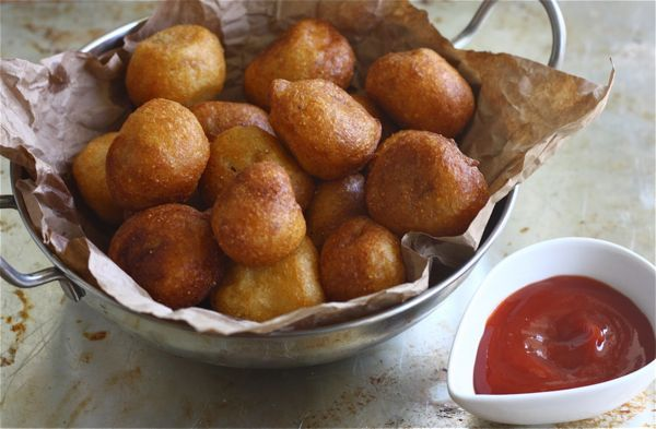 Corn dog tots. Kids will love these!