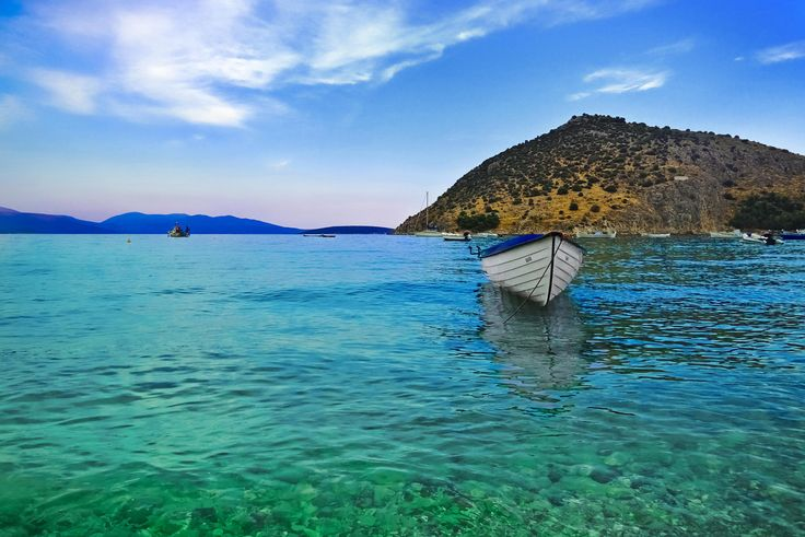 Boat on the beach, Tolo Greece