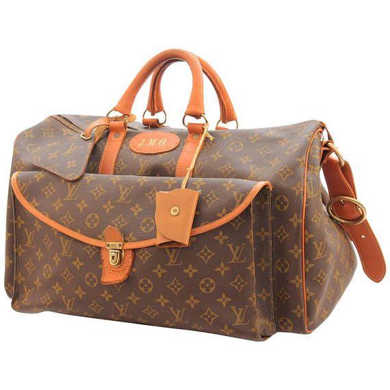 Louis Vuitton Saks Large Monogram Duffel Bag Overnight Travel Keepall Rare 70s Louis Vuitton Bags Duffel
