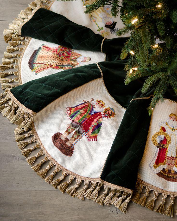"""""""Old World Santas"""" Christmas Tree Skirt #horchowholiday14"""