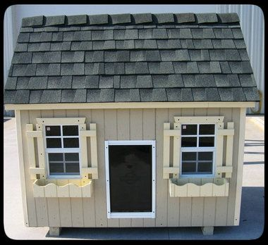 Gable Style Luxury Dog House | Extra Large - This Gable style luxury dog house will accommodate an extra large dog or several small breed dogs also offers optional insulation feature.