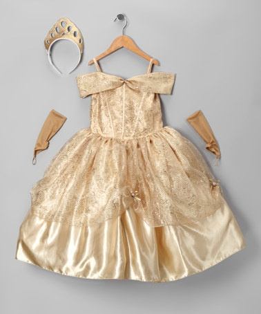 Take a look at this Bijan Kids Gold Belle Dress-Up Set - Infant, Toddler & Girls by Pretty Princesses Collection on #zulily today!