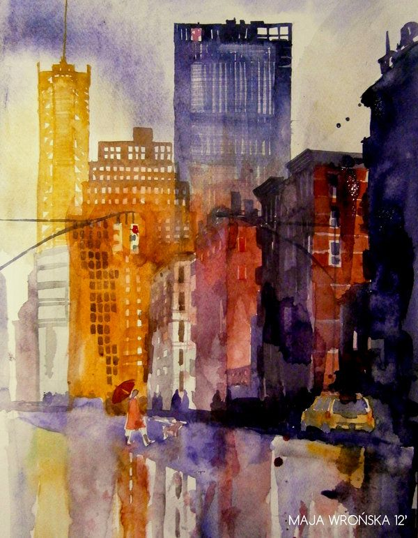 Watercolors Architecture by Maja Wrońska