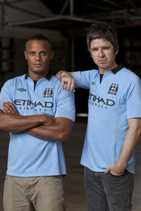 Vincent Kompany and Noel Gallagher Launch Manchester City Kit 2012