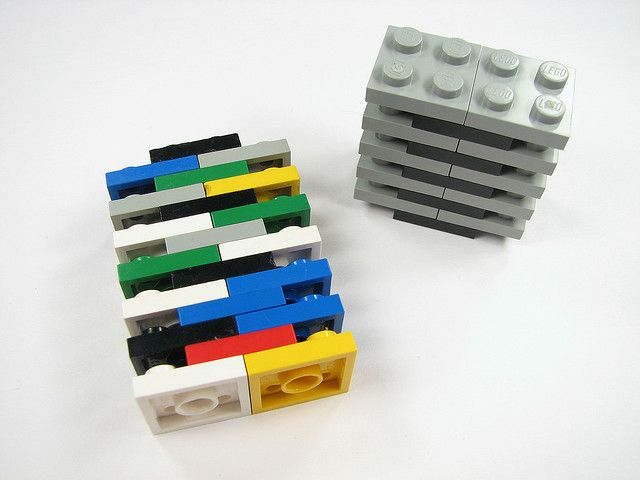Stack storage!  Great idea...wonder if we can make this a habit in our house?