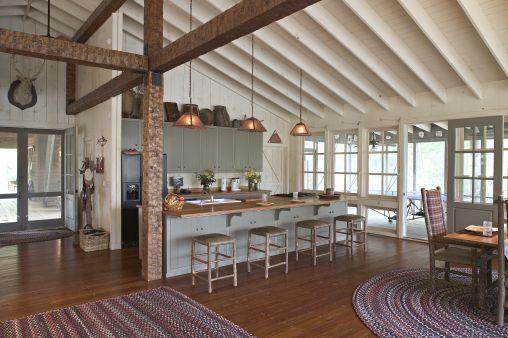 Jai Designed Cabin Interior Consists Of White Pine Shiplap