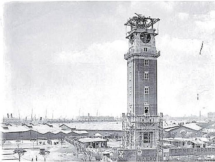 Buenos Aires, La Torre de los Ingleses en 1910. El reloj aún está en construcción y se inaugurará en 1916