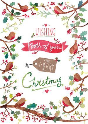christmas robins via felicity french
