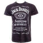 Jack Daniels Classic Acid Wash T Shirt (Black)
