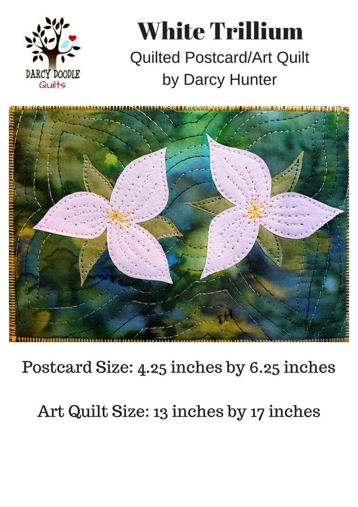 Trillium Quilt PAPER Pattern / Quilting Patterns / Quilt Pattern / Simple Quilt Patterns / Gifts for Quilters / Art Quilt Patterns / Quilt by DarcyDoodleQuilts on Etsy