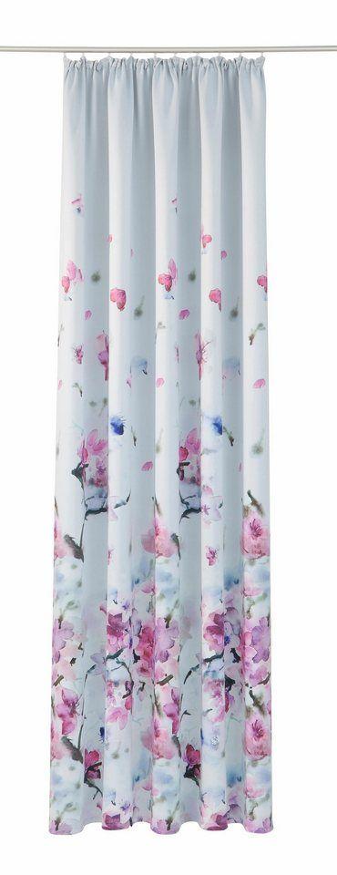 Vorhang, my home, »Sumba Blüte«, mit Kräuselband (1 Stück) ab 28,79€. Verdunkelnder Stoff, Einseitig bedruckt, Wärmeabweisender Stoff bei OTTO