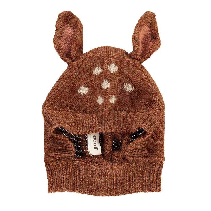 Oeuf NYC Cagoule Baby Alpaga Bambi Caramel