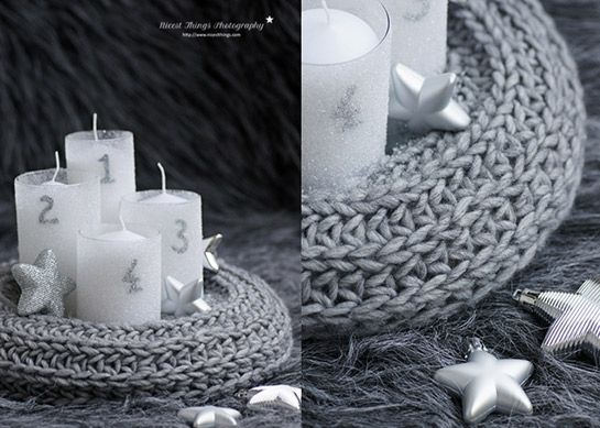 Gestrickter Adventskranz | DIY LOVE