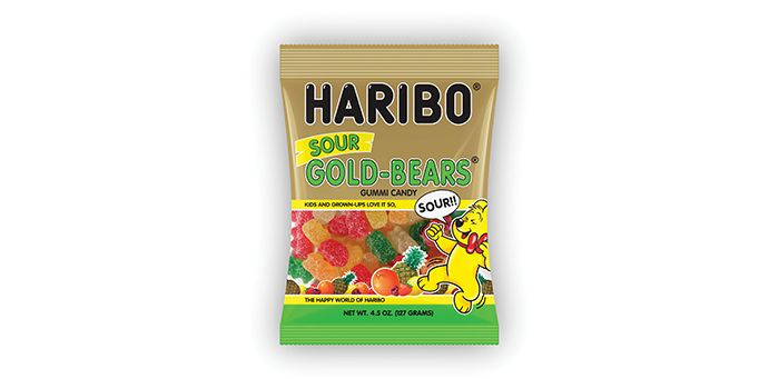 HARIBO Gold-Bears have been making mouths happy and adding color to our lives for over 90 years. Now, you can try our Sour Gold-Bears… our original Gold-Bears with the right bit of sour in ever