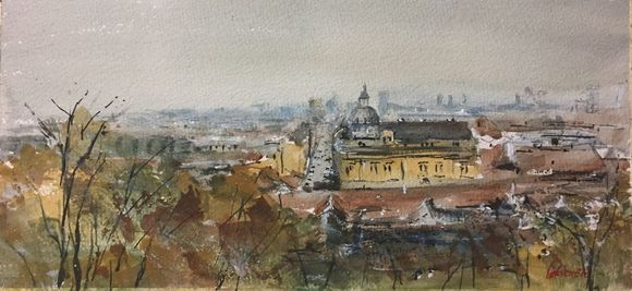 City Roofs 2017 Watercolour By Tihomir Cirkvencic In 2020 Roof Paint Watercolor City