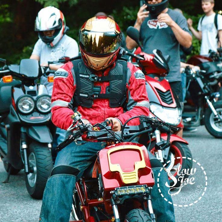 Luusama Motorcycle And Helmet Blog News: A Iron-Man Motorcycle Custom Bike with a Masei 830 Ironman Arai Helmet in Canada