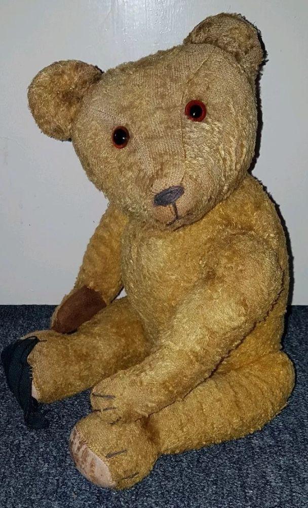 What A Gorgeous Face No Wonder He S So Fur Loss Loved German 40s 50s 17 Old Teddy Bears Teddy Bear Vintage Teddy Bears