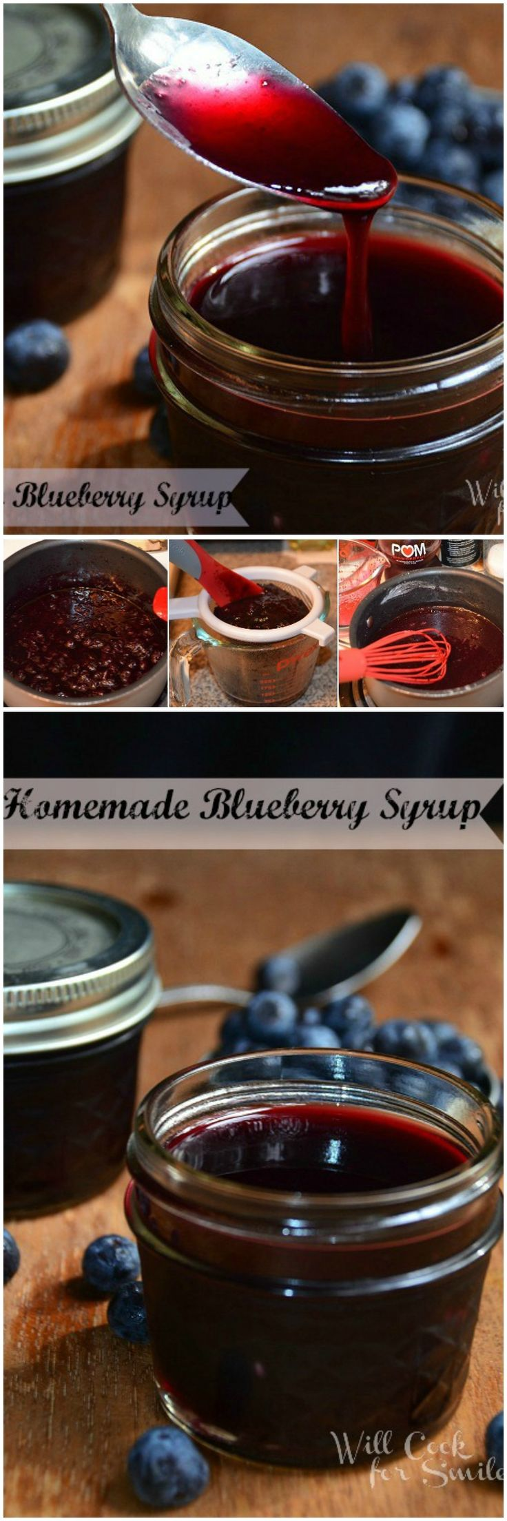 Another wonderful homemade syrup recipe! Blueberry syrup is full of flavor and smooth!