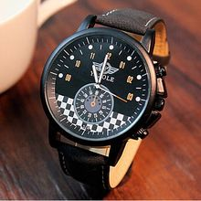 Luxury fashion beautiful high force grid business watch young attractive brand watch YAZOLE men's watch 324(China (Mainland))