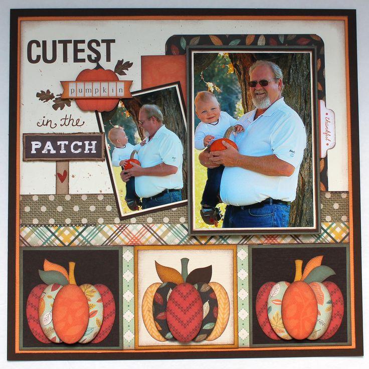 Cutest Pumpkin in the Patch - My Creative Scrapbook- Main Kit nov 2016 Carta Bella- Fall Blessings