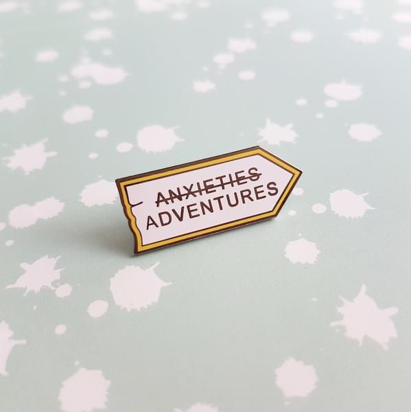 (Anxieties) Adventures enamel pin – Diglot etc