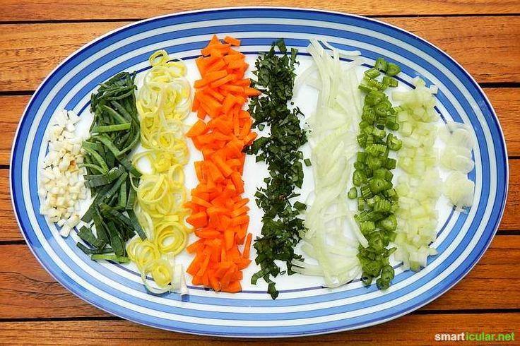 Hast du etwas Kohlrabi oder eine Karotte zu viel? Mit diesem Trick planst du vor und produzierst deine eigene, gesunde Instant-Suppe - fast kostenlos.