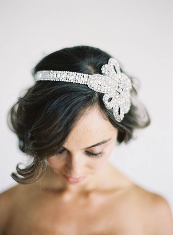 Sparkling Bridal Headpiece | Jen Huang Photography