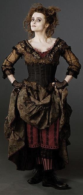 Sweeney Todd: The Demon Barber of Fleet Street. Helena Bonham Carter as Mrs. Lovett. Costume Designer: Colleen Atwood.