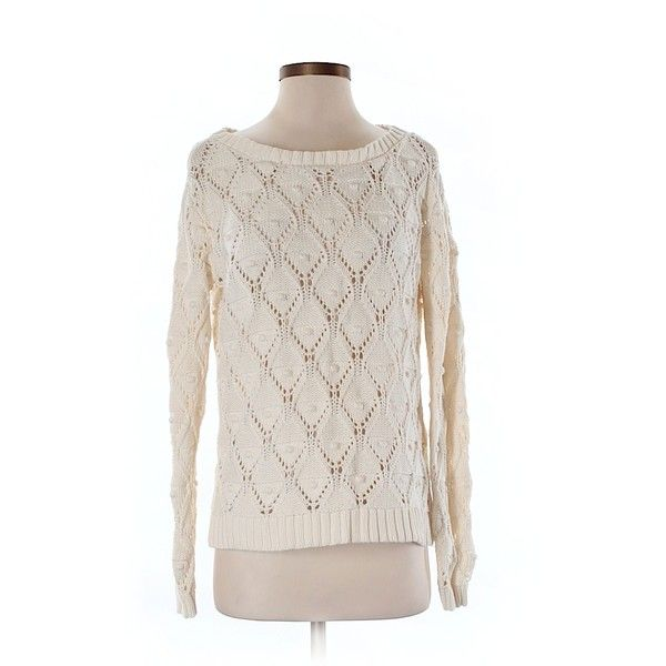 Pre-owned Tommy Hilfiger Pullover Sweater Size 4: Beige Women's Tops ($33) ❤ liked on Polyvore featuring tops, sweaters, beige, pink sweater, beige top, tommy hilfiger, pullover sweaters and beige sweater