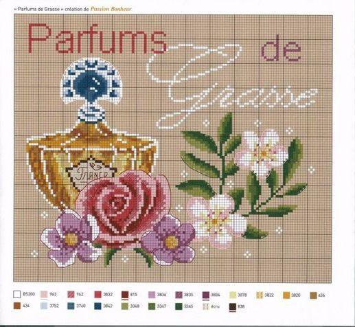 0 point de croix parfum de grasse - cross stitch perfume from grasse